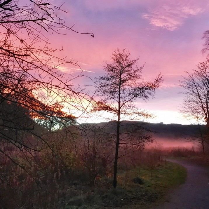 Evelyn Kelly captured this beautiful sky in the Perthshire countryside.  The sky looks like a crushed parma violet!