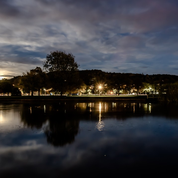 Gordon Sime took this beautiful mirror image of the sky over Perthshire on the night of the super moon.