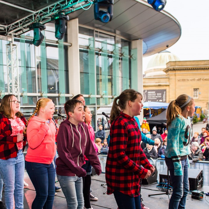 The Horsecross Plaza stage was home to song, dance and live music.
