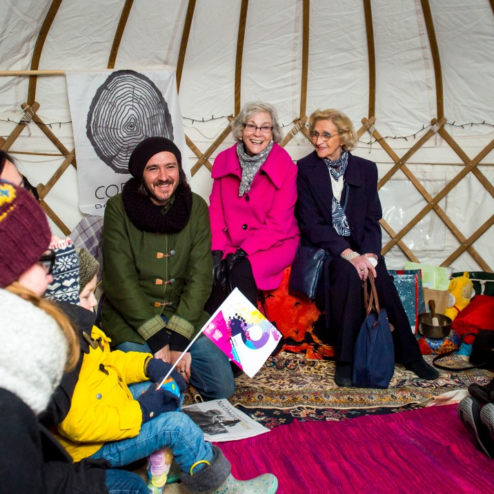 Spoken and written word took precedence in the atmospheric yurt on Perth's high Street
