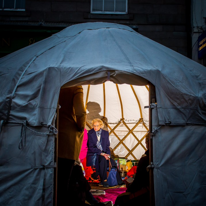 The storytelling yurt was popular with children and adults who came to hear stories, poetry and spoken word.