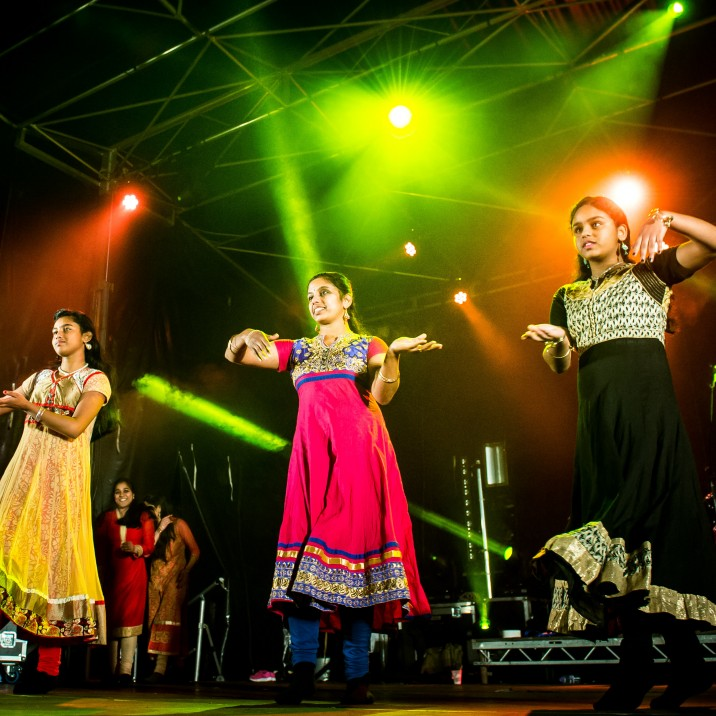 A self taught and choreographed Indian dance troup performed Bollywood style dance in traditional Indian dresses.