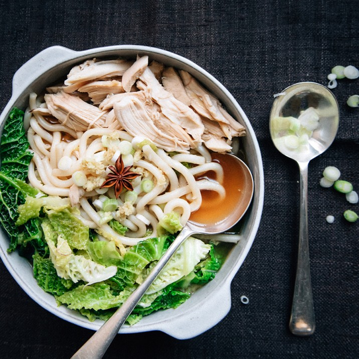 This hearty Asian style broth is super healthy and nutritious.