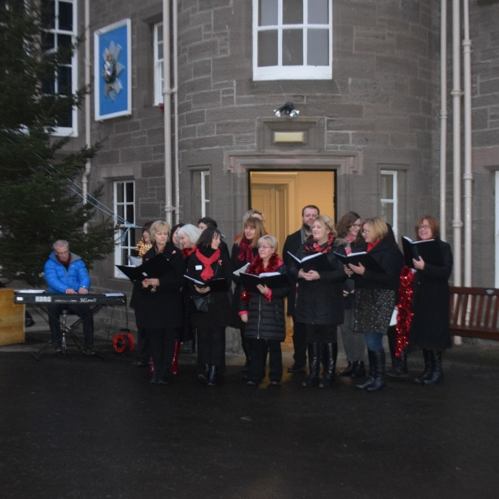 The 'Everyone Can Sing' Choir were a huge hit on the day
