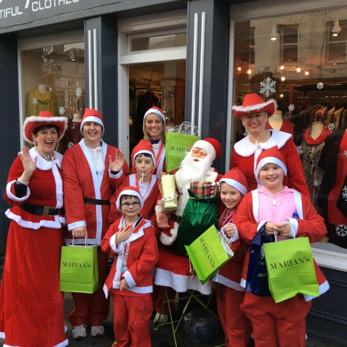 The first 40 Santa's to pop into Marian's each recieved a FREE furry headband worth £10!
