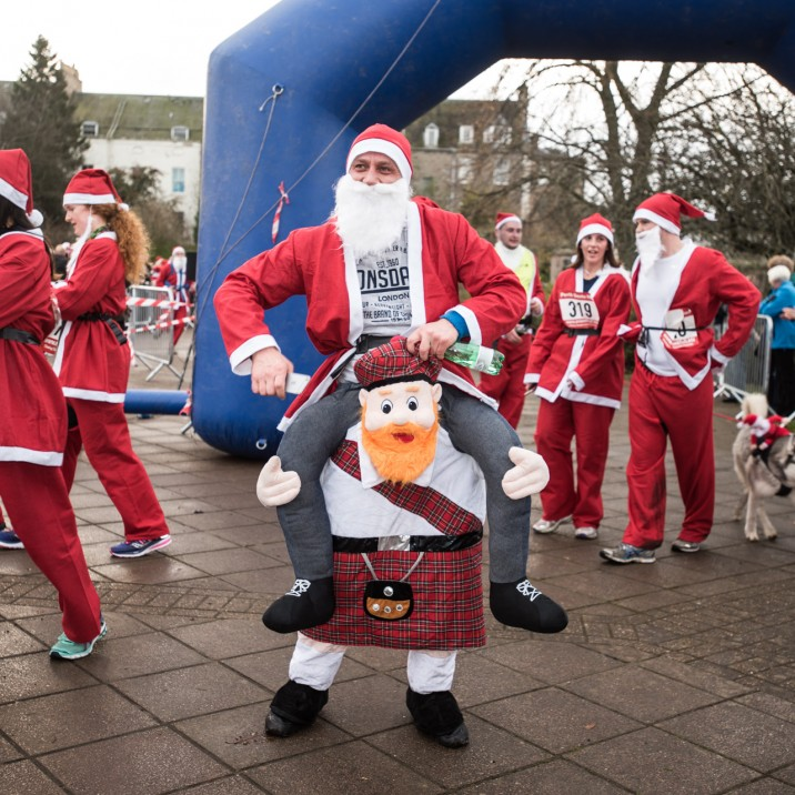 Runners really got into the spirit of things with some even donning their own take on fancy dress Santas!