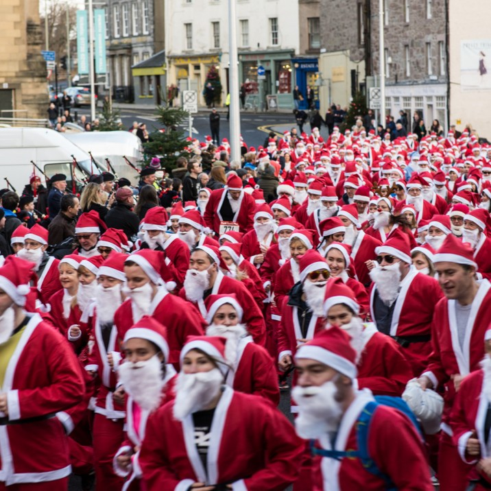 Santas were snapping away on their phones at the start line to bag the ultimate festive profile pic.