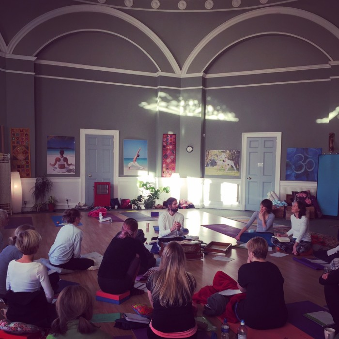Perth Yoga Studio Wellbeing class listening