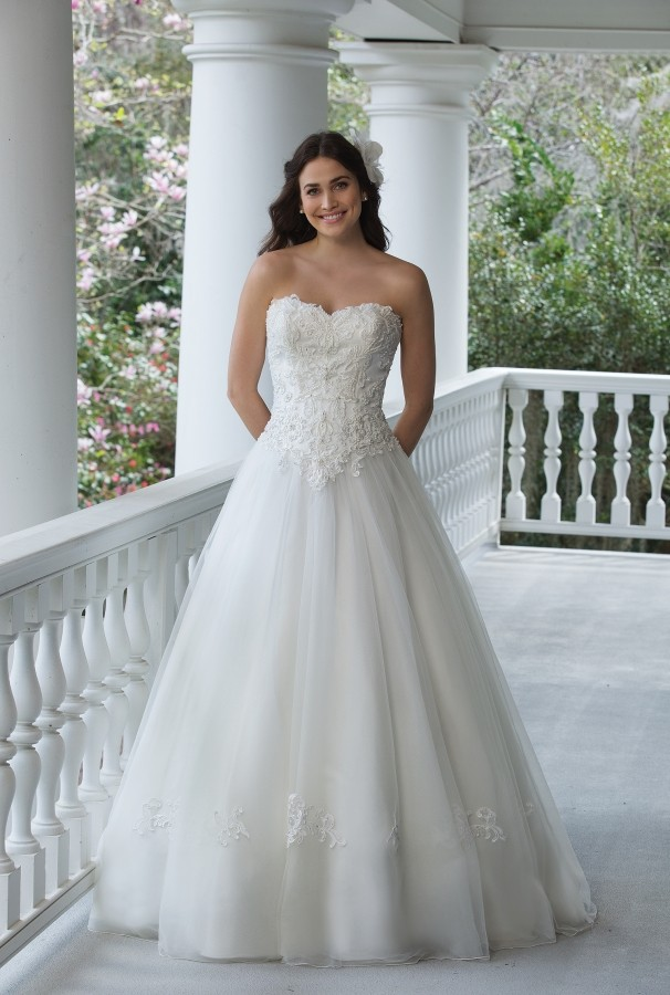 Alison Kirk Bridal Gown On Balcony