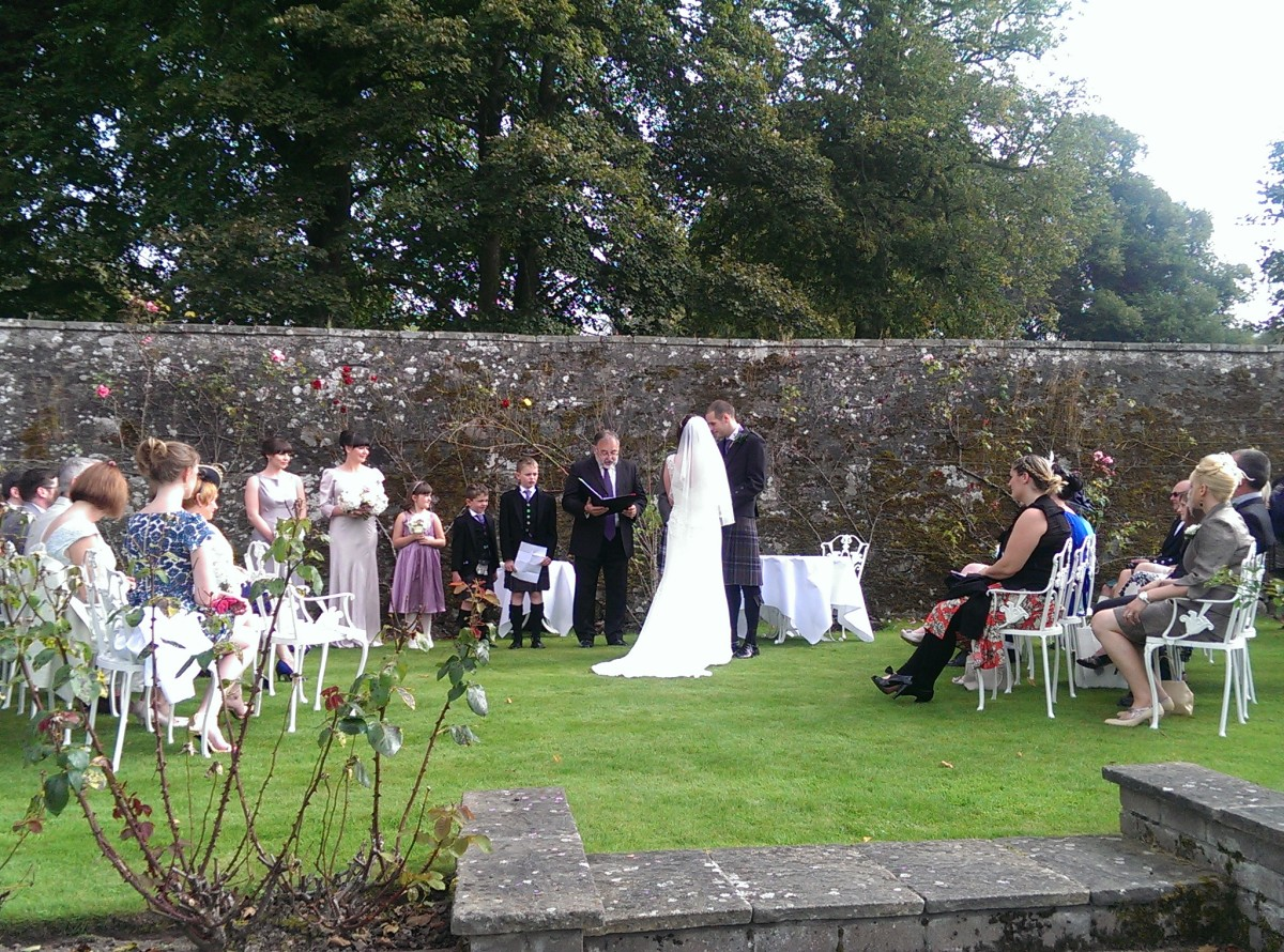Murrayshall Weddings garden ceremony