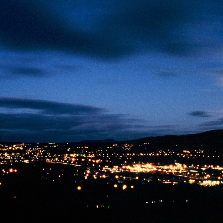 A midnight blue sky over perth taken from Craigie Hill.