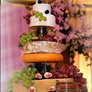 Provender Brown offer cheese wedding cakes as an alternative to the traditional variety.