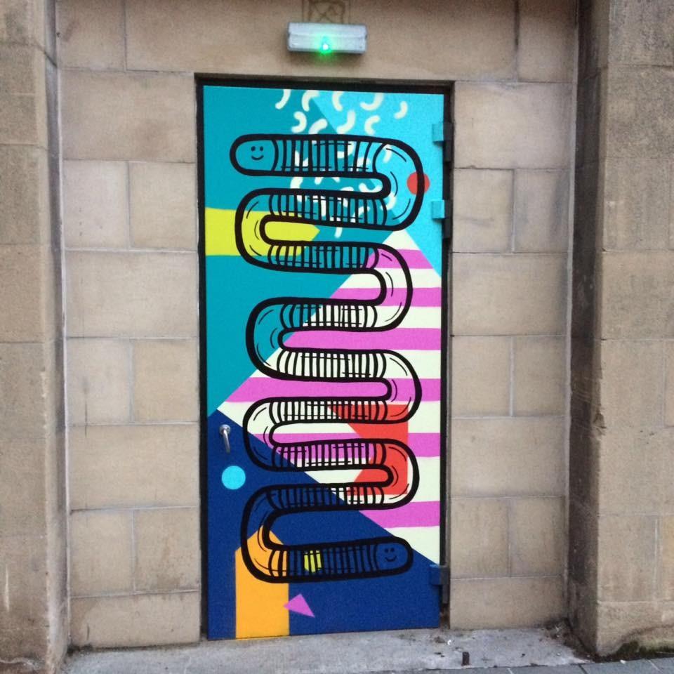 PAINTED DOORS - Snake door