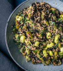 Wild Rice and Quinoa Salad with Soya Beans
