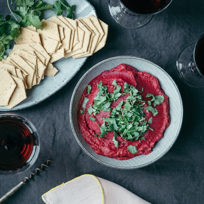 This beetroot hummus is the perfect dip and side for any meal.