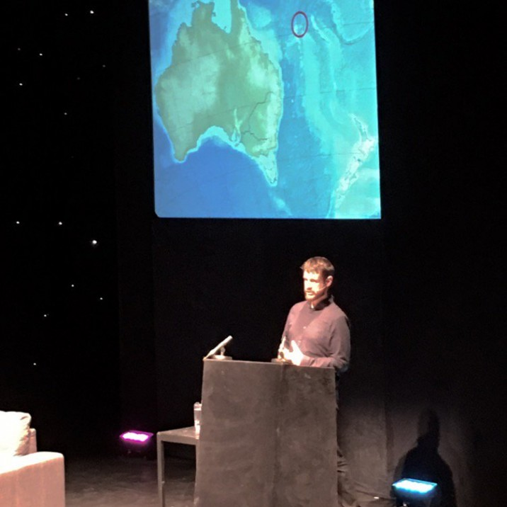 Malachy Talack took to the stage to discuss his book Un-Discovered Islands which was an exploration of some of the worlds strangest Islands.