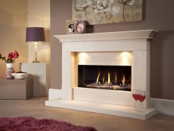 Fireplaces Direct white with candles