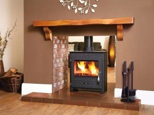 Fireplaces Direct black on brick