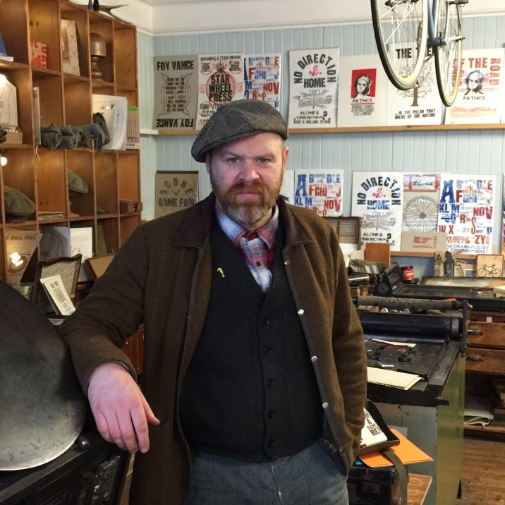 Ryan Hannigan is an Aberfeldy-based designer and painter and has been nominated as a Perth Pioneer for his work organising the annual Aberfeldy Festival and his work as lead designer at Haggart�s 1801 printmaking and tweed shop.