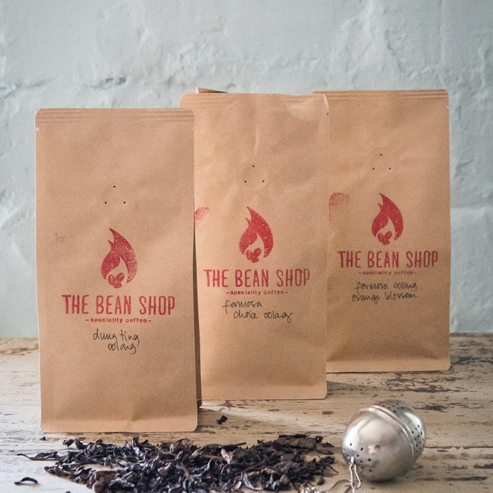 The Bean Shop does an amazing selection of loose leaf tea.