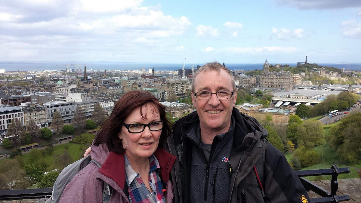 CLARE GALLAGHER - With Husband