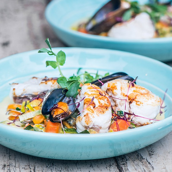 This delicious monkfish tail and mussel broth is so nourishing and tasty.