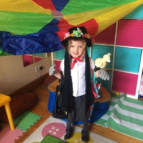 Ruby as the perfect Mary Poppins for World Book day!