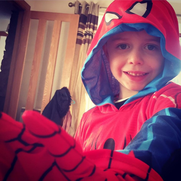 Kelli Kirk sent us this spidertastic picture of her little spiderman all ready for world book day.