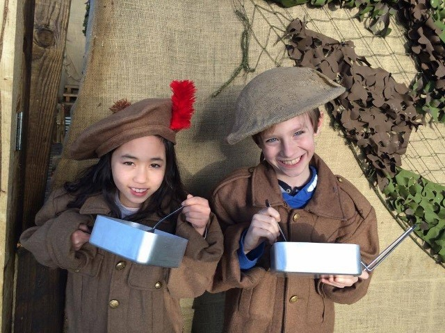 Black Watch Easter kids trench