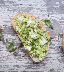 Smashed Avocado, Feta and Mint on Sourdough