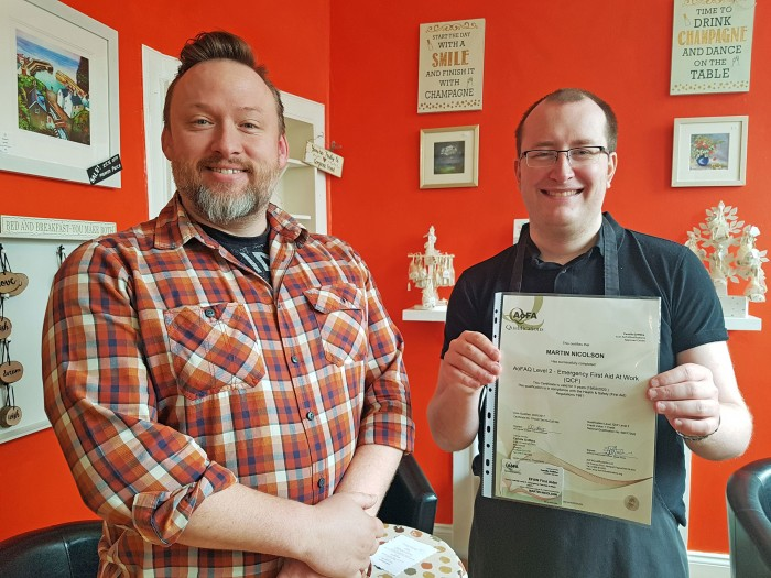 Giraffe Café - Ian Potter with jobseeker Mike