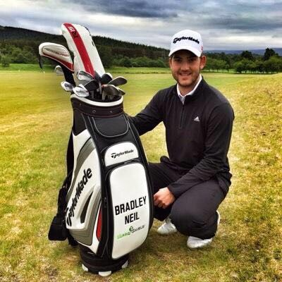 Bradley Neil with golf bag