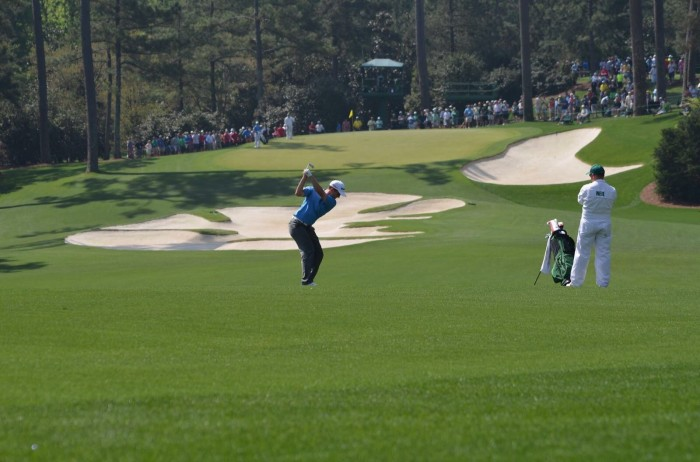 Bradley Neil approach shot at The Masters