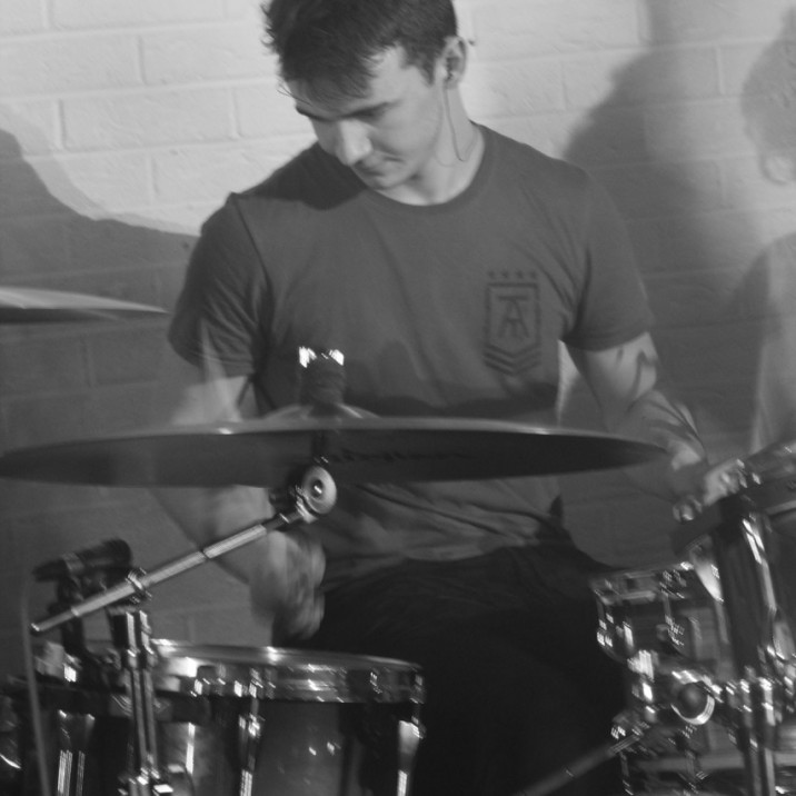 Black & White drummer
