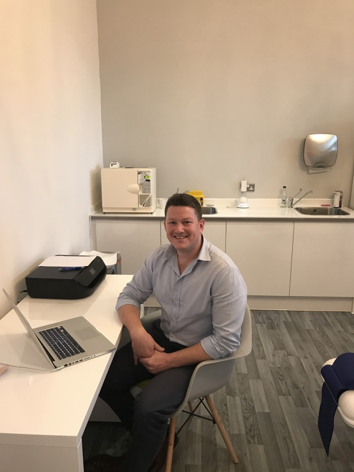 Sports Podiatry Scotland - Alastair in office