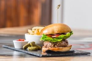 Venison Burger at The Venue