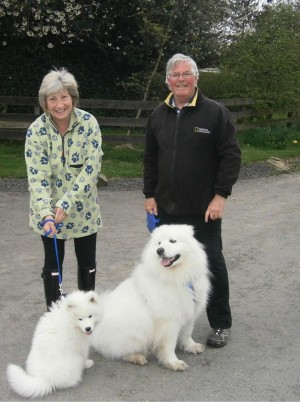 Workdays and Weekends - Peter Rutterford with wife and dogs