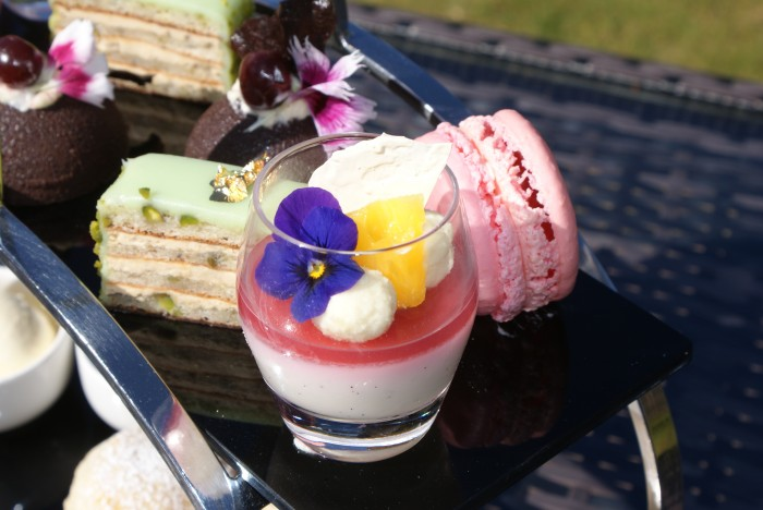 Detail of desserts in a Perthshire Afternoon tea