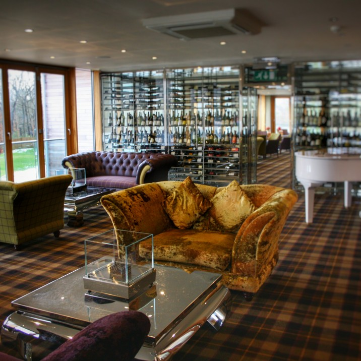 Afternoon tea at Fonab is always held in The Lounge overlooking Loch Faskally or outside in summer.