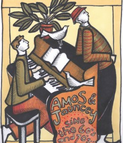 Piano and vocal duo, Dave Amos and Jamie Jauncey bring their fresh take to favourite sing-a-long hits from the classic era of pop and rock.  Catch them this summer at Birnam Arts!