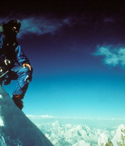 "Doug Scott CBE brings tales of extreme mountaineering to Birnam Arts with his lecture celebrating the 40th anniversary of his legendary crawl down Pakistan's infamous ""Ogre"" after a disastrous abseil left him on hanging from a rope with both legs broken."