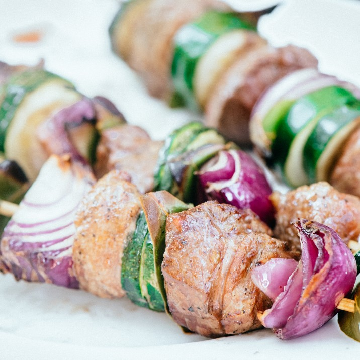 These tasty skewers are the perfect bbq food.