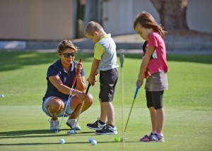 Under 18s can play golf for free at Kinross Golf Courses when accompanied by a paying adult.
