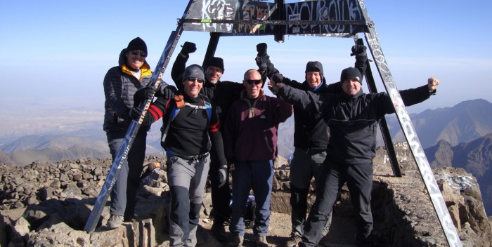 Chas Sievewright top of Mount Toubkal with prison service