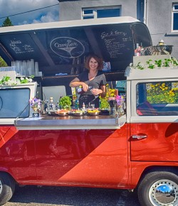 Catriona Duncan is the queen of cocktails and serves them from her unique Camper Van Bar! We find out more about her busy, boozy weeks!