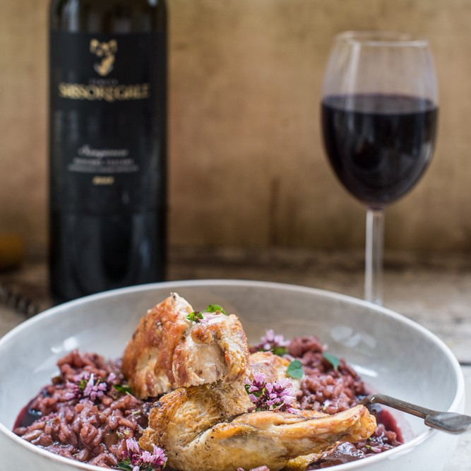 Red wine and risotto = foodie heaven!