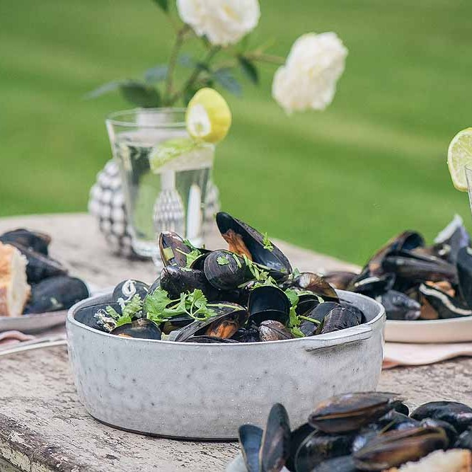 These tasty Hebridean Mussels are delicious!