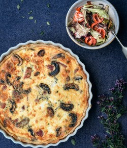 Beetroot, Mushroom and Feta Tart