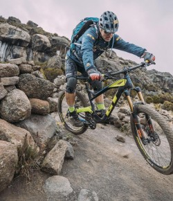 HANS REY is considered the world's leader in extreme mountain biking. A former trials riding World Champion, stuntman, pioneer of Freeride, Mountain Bike hall of fame and mountain bike adventurer.