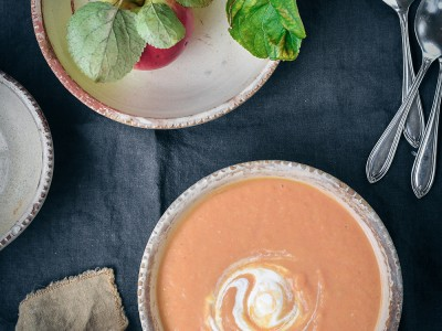 Roasted Candy Beet and Carrot Soup